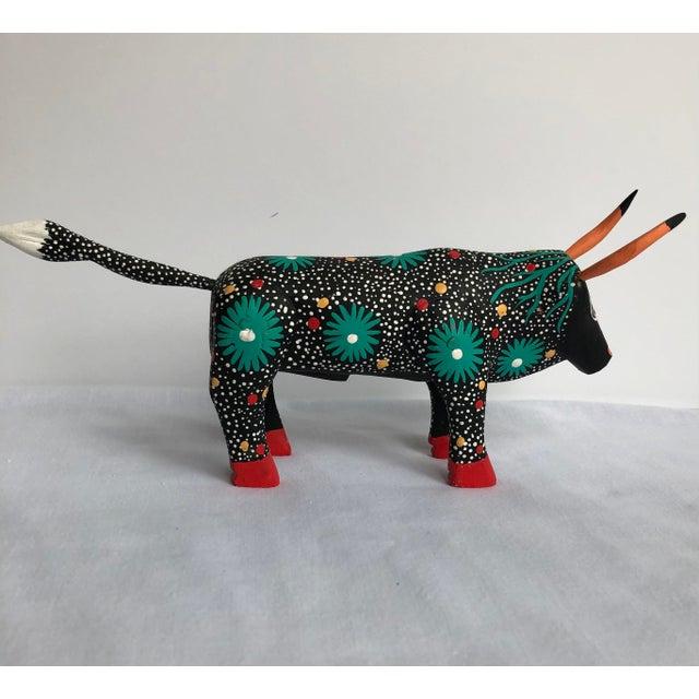 Late 20th Century Raphael Mendoza Mexican Folk Art Bull For Sale - Image 4 of 7