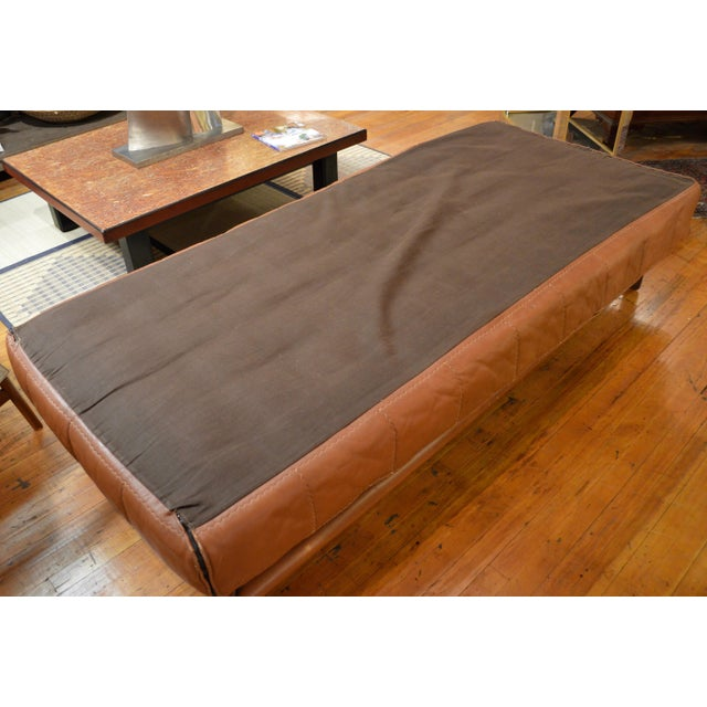 Metal Mid Century Italian Modernist Faux Leather Daybed For Sale - Image 7 of 13