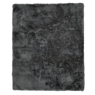 Denis Shag Sheepskin Dark Gray Rug-5'x8 For Sale