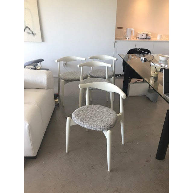 Mid-Century Modern Modern Hans Wegner for Carl Hansen and Sons Original Ch20 Elbow Chairs- Set of 4 For Sale - Image 3 of 13