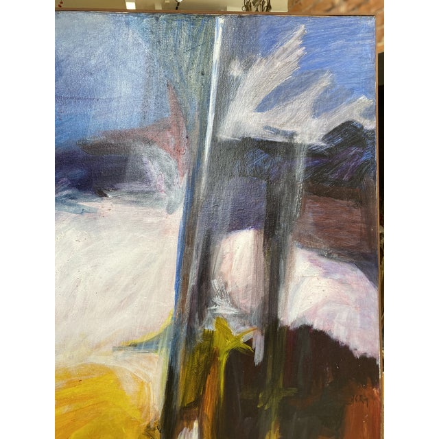Mid 20th Century Abstract Oil Painting For Sale - Image 9 of 11