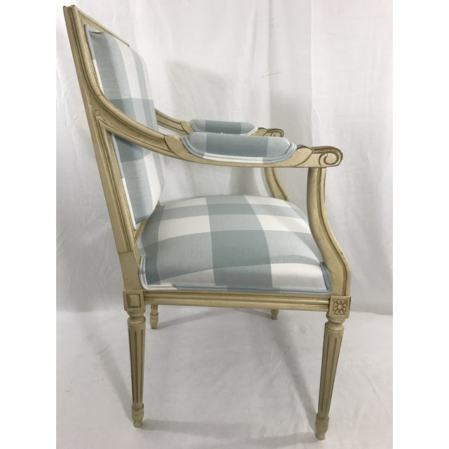 1900 - 1909 Louis 16th Style Arm Chair For Sale - Image 5 of 6