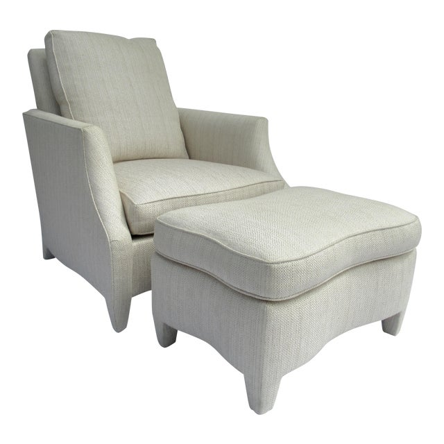 Donghia Ogee Club Chair and Ottoman For Sale