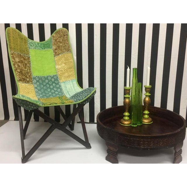 Vintage Handcrafted Sling Back Folding Chairs - a Pair For Sale - Image 4 of 5