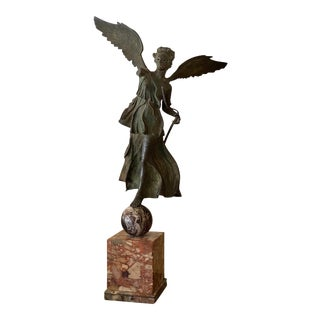 Italian Grand Tour Bronze of a Winged Victory For Sale