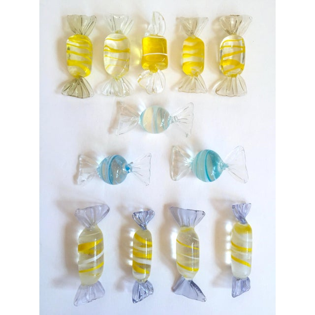 Mid 20th Century Vintage Mid Century Modern Italian Hand Blown Murano Art Glass Candies - Set of 52 For Sale - Image 5 of 11
