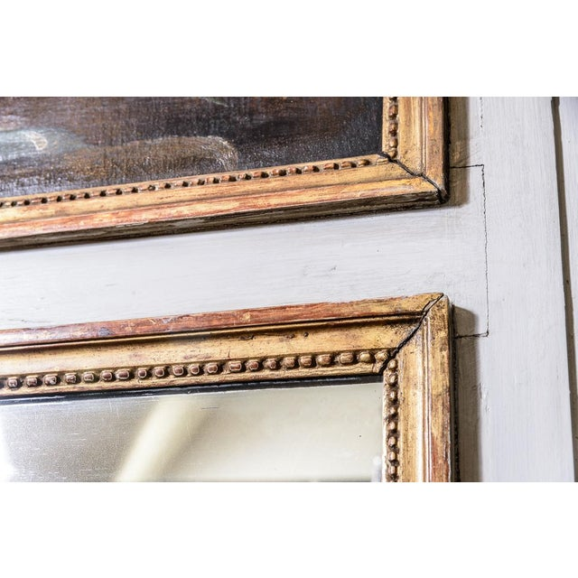 French Antique Trumeau Mirror With Painting For Sale - Image 3 of 8