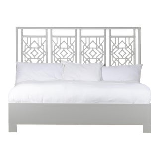 Tulum Bed King - Light Gray For Sale