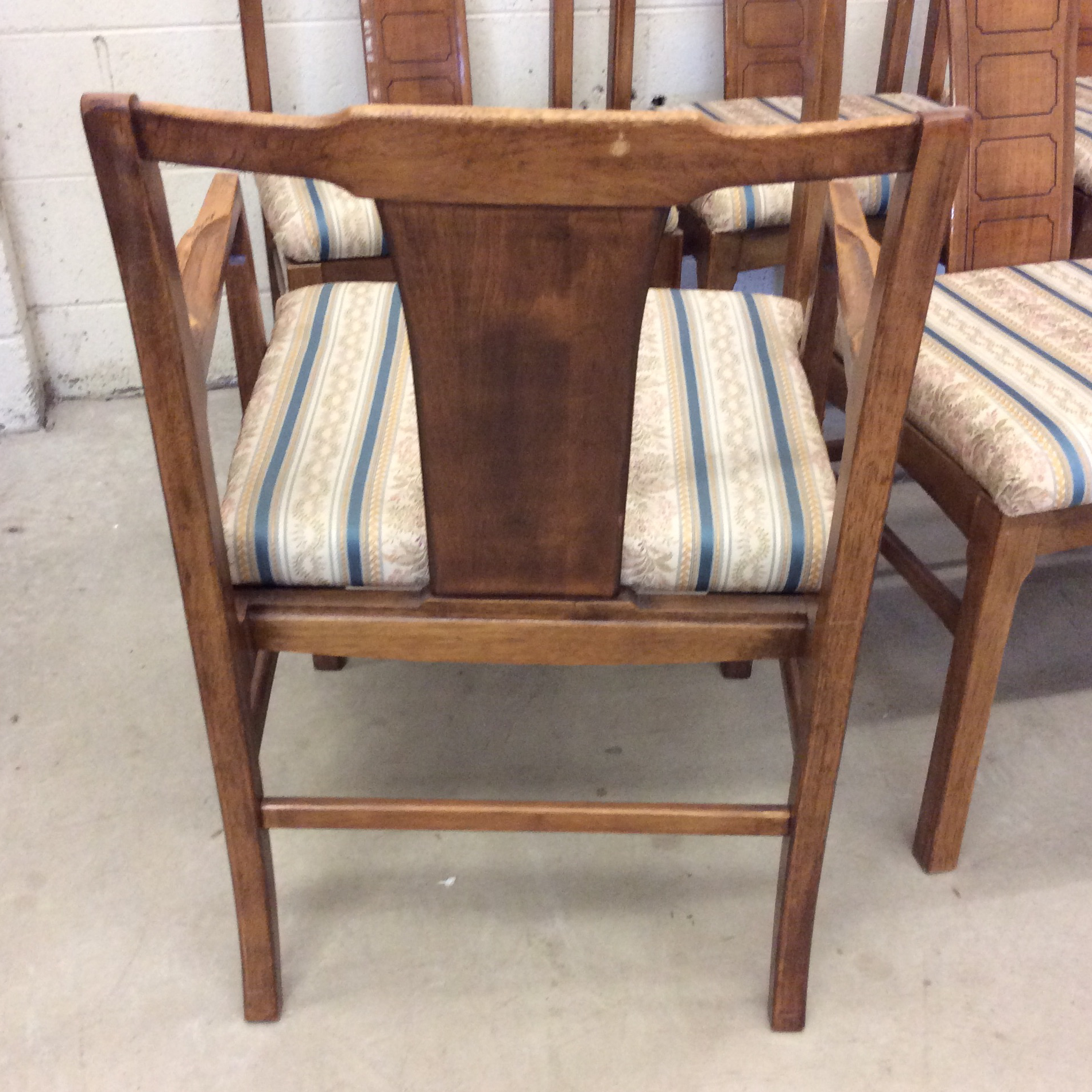 Mid Century Modern Walnut Low Back Dining Chairs   Set Of 6   Image 5
