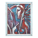 Image of Mid-Century Modern Abstract Cubist Portrait For Sale