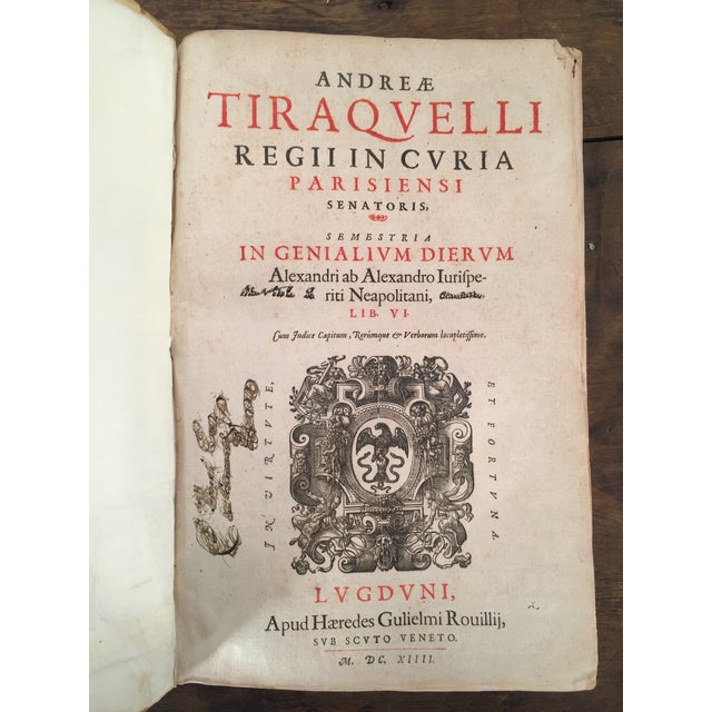 André Tiraqueau 1614 Vellum Book - Image 2 of 9