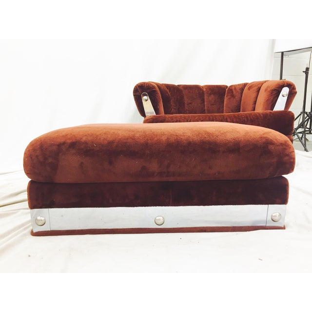 Vintage Mid-Century Modern Chair & Ottoman For Sale In Raleigh - Image 6 of 11