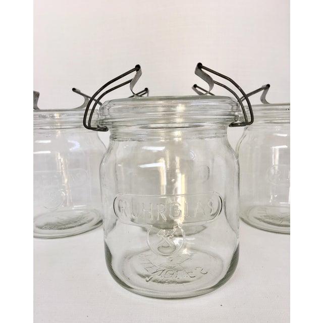 Mid-Century Modern Vintage German Ruhrglass Fruit Jars - Set of 4 For Sale - Image 3 of 10
