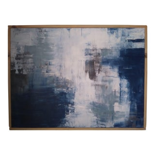 """Blue Dynamo"" Original Abstract Art by Kris Gould For Sale"