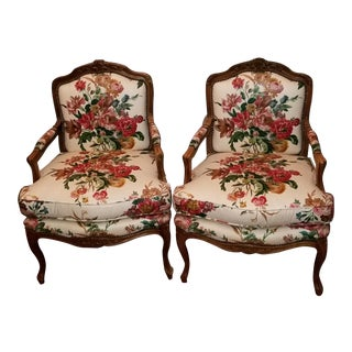 Vintage Baker Furniture French Bergere Chairs - a Pair For Sale