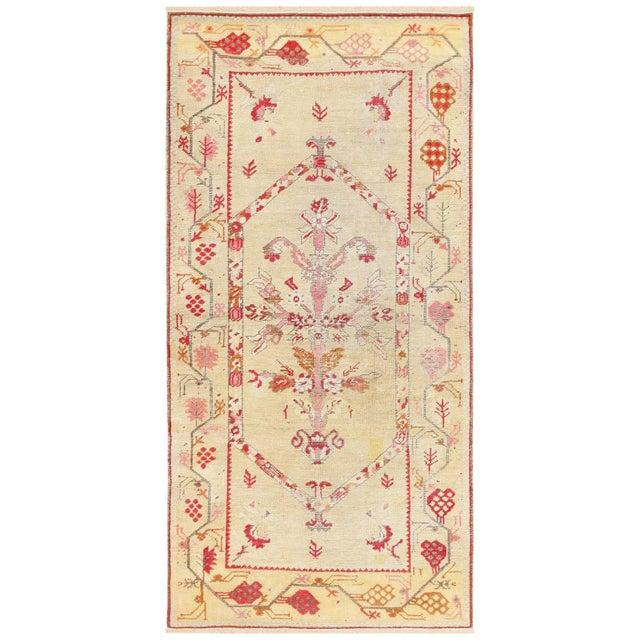 Antique Shabby Chic Tribal Turkish Ghiordes Rug - 3′5″ × 6′6″ For Sale - Image 10 of 10