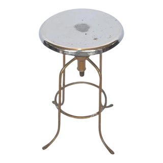 1940's American Steel Adjustable Height Stool For Sale