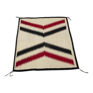 Vintage Southwestern Handwoven Wool Area Rug / Tapestry - 3′8″ × 3′10″ For Sale
