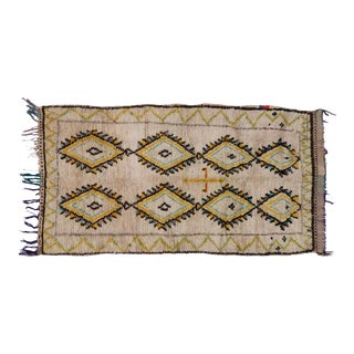 Berber Moroccan Azilal Rug with Tribal Design, 3'8 x 6'7 For Sale