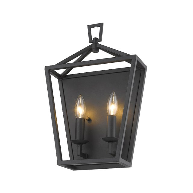 The Ponce City 2 light sconce features an elegant matte black finish and equestrian details Takes 60W bulb.