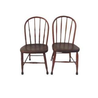 Antique Children's Windsor Chairs - A Pair