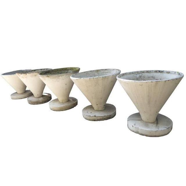Modern French Conical Urns on Stands, Circa 1960 For Sale In Los Angeles - Image 6 of 8