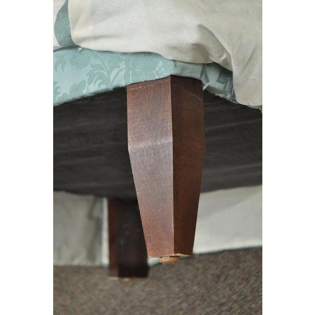 Vanguard Furniture Rolled Back Blue Upholstered Slipper Chair - Image 2 of 11