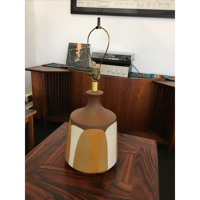 Ceramic Flame Series Lamp by David Cressey - Image 2 of 5