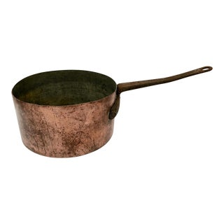 Early 1900s Antique Copper Saucepan For Sale