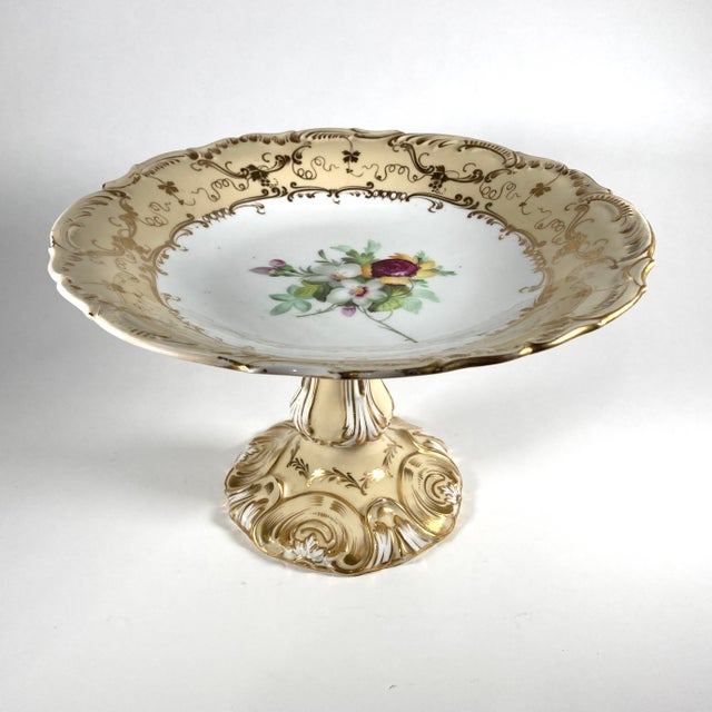 Mid 19th Century 19th Century English William IV Period Ridgway Porcelain Tazza For Sale - Image 5 of 5