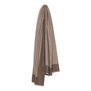 Arran Border Cashmere Blanket, Mink For Sale