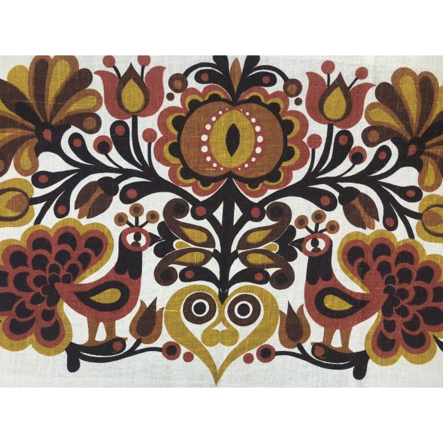 Södahl/Sodahl Denmark Peacock and Floral Wall Tapestry For Sale - Image 6 of 12