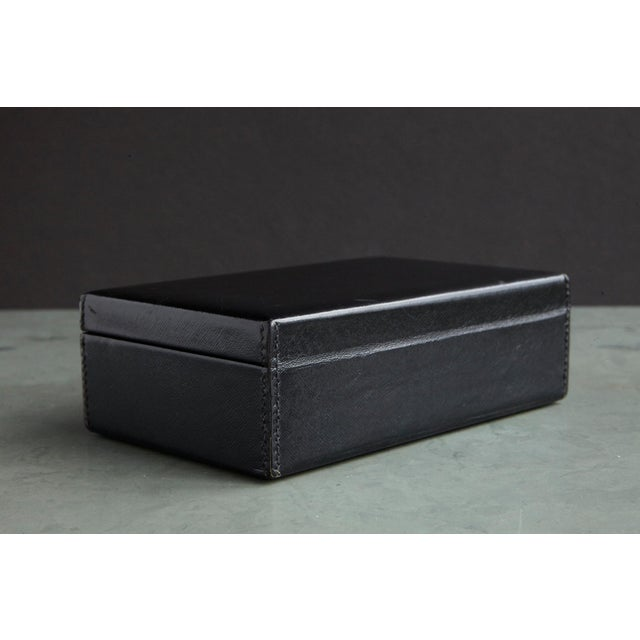Gucci Black Leather and Red Velvet Jewelry Box From the Collection of Ann Turkel For Sale - Image 11 of 13