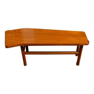 Mid-Century Edward Wormley Dunbar Angled Form Mahogany Coffee Table For Sale