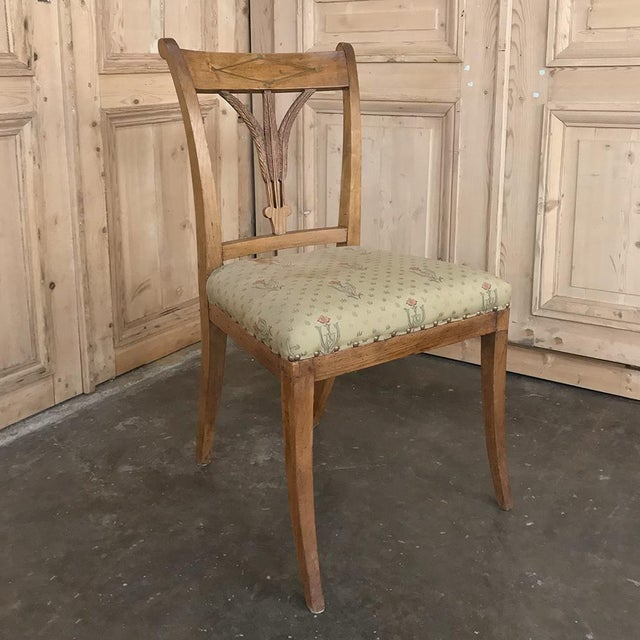 Set of Four 19th Century Swedish Directoire Style Chairs For Sale - Image 4 of 13