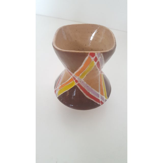 Vintage Studio Pottery Small Sculptural Vase Vessel For Sale - Image 5 of 10