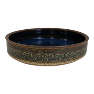 1980s Vintage David Mischke Art Pottery Bowl For Sale