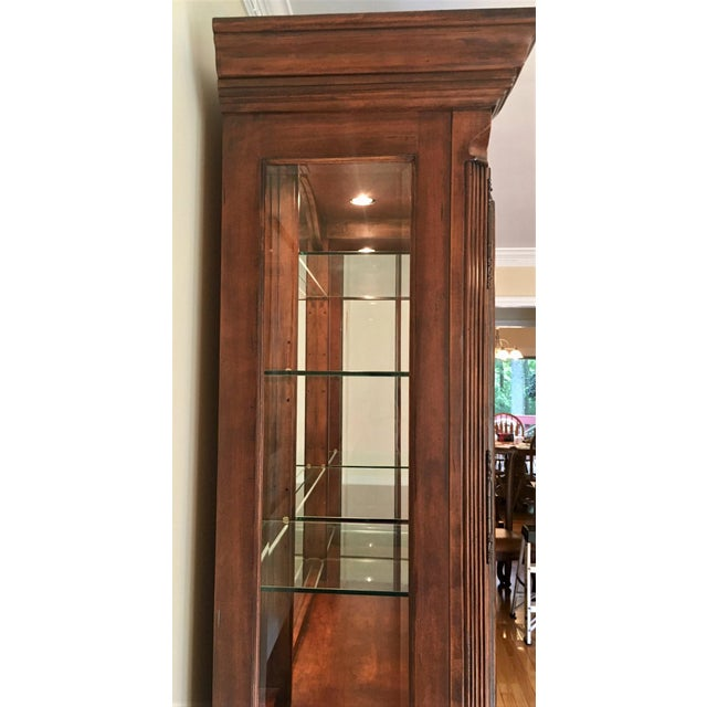 Wood Avignon by Bernhardt China Cabinet Deck & Base For Sale - Image 7 of 13