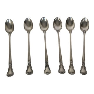 1970s Traditional Gorham Chantilly Sterling Silver Iced Tea Spoons - Set of 6