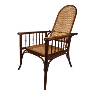 1910s Adjustable Bentwood Morris Style Armchair For Sale