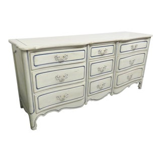 French Style White Distressed Dresser For Sale