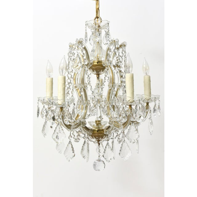 Five Light Petite Maria Theresa Chandelier - Image 2 of 4