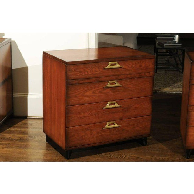 Brown Rare Restored Pair of Commodes by John Wisner for Ficks Reed, Circa 1954 For Sale - Image 8 of 11
