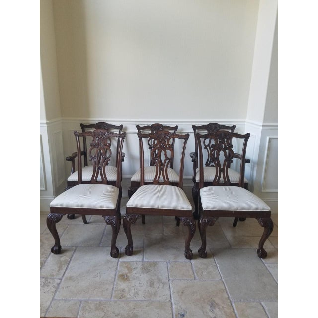 Ethan Allen Chauncey Dining Chairs - Set of 6 - Image 2 of 11