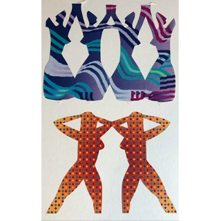 Modern Abstracted Figure Collage by James Bone - 1990s For Sale