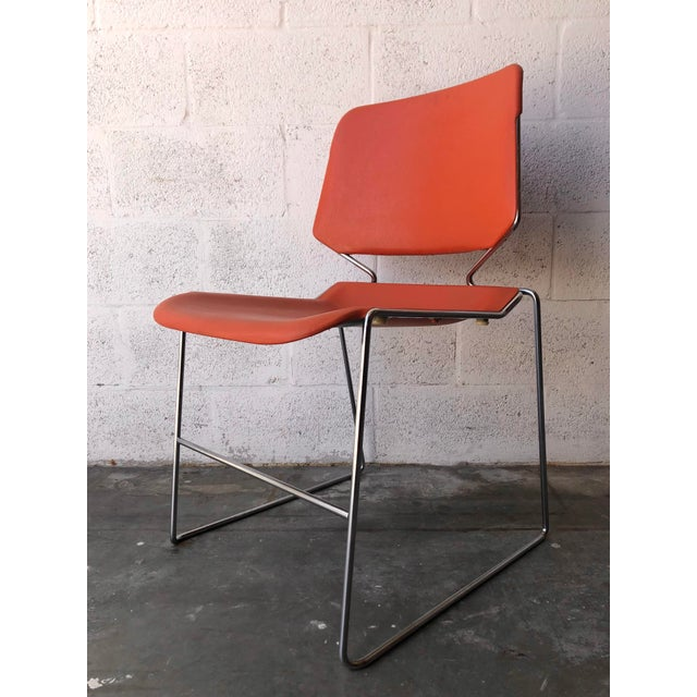 1970s Vintage Mid Century Modern Matrix Krueger Stackable Chairs- Set of Two. For Sale - Image 5 of 13