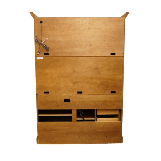 """20th Century Traditional Sligh Furniture Homeworks Home Office Collection 58"""" Computer/Media Armoire For Sale - Image 11 of 13"""