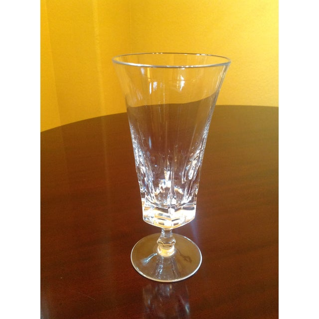 This set of 8 beautifully weighted crystal goblets or parfait glasses, by Gorham, was barely used — Each glass is in...
