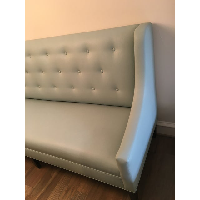 Faux Leather Dining Banquette Bench For Sale - Image 5 of 5