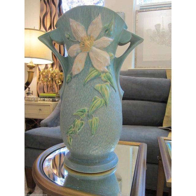 Extra Large Roseville Usa Clematis Vase Chairish